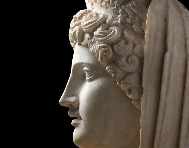 Bereket tanrıçası Demeter heykelinin başı. Roma İmparatorluğu Dönemi, MS 2. yüzyıl (MS 125-150).